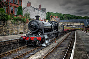 Western Digital Art Metal Prints - 3802 at Llangollen Station Metal Print by Adrian Evans