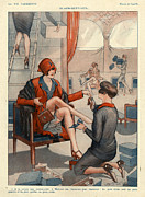 Shops Drawings Prints - 1920s France La Vie Parisienne Magazine Print by The Advertising Archives