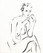 Nudes Drawings Originals - RCNpaintings.com by Chris N Rohrbach