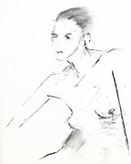 Black Drawings Originals - RCNpaintings.com by Chris N Rohrbach