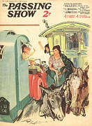 Gypsy Drawings Prints - 1930s,uk,the Passing Show,magazine Cover Print by The Advertising Archives