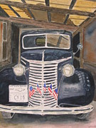 4th July Paintings - 39 Chevy by Peggy Dickerson