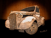Chas Sinklier - 39 Chevy Pickup Drawing