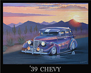 Retro Paintings - 39 Chevy by Stuart Swartz