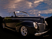 39 Ford Framed Prints - 39 Mercury Convertible Framed Print by Chas Sinklier