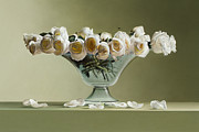 Photorealistic Prints - 39 Roses Print by Mark Van crombrugge