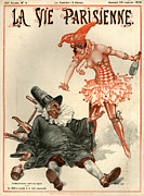 Drunk Drawings Prints - 1920s France La Vie Parisienne Magazine Print by The Advertising Archives