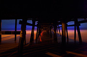 San Clemente Pier Photos - 3am by Lon Lovett