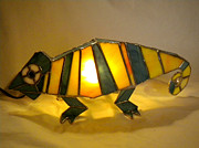 Featured Glass Art Prints - 3D Animal Lights by Michelle Lodge Print by Studio One Seventy Two