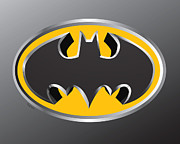 Caped Crusader Prints - 3D Bat Print by Cheryl Young