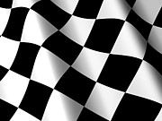Checker Flag Framed Prints - 3D Checkered Flag Framed Print by Shazam Images