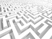 Challenging Digital Art Prints - 3D Maze - Version 1 Print by Shazam Images
