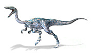 One Animal Digital Art - 3d Rendering Of A Coelophysis Dinosaur by Leonello Calvetti