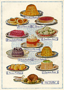 Magazine Plate Framed Prints - 1920s Uk Food Magazine Plate Framed Print by The Advertising Archives