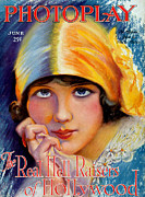 Cinema Drawings Prints - 1920s Usa Photoplay Magazine Cover Print by The Advertising Archives