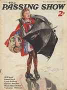 Rain Drawings - 1930s,uk,passing Show,magazine Cover by The Advertising Archives