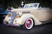 Antique Automobiles Framed Prints - 1936 Ford Cabriolet  Framed Print by Rich Franco
