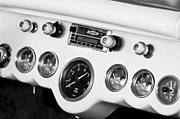 Dashboard Prints - 1954 Chevrolet Corvette Dashboard Print by Jill Reger