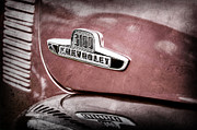 Chevy 3100 Framed Prints - 1955 Chevrolet 3100 Pickup Truck Emblem Framed Print by Jill Reger