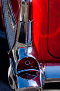 Custom Chevrolet Posters - 1957 Chevy Bel Air Custom Hot Rod Poster by David Patterson