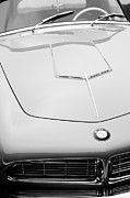 Beach Photographs Posters - 1958 BMW 507 Series II Roadster Hood Emblem Poster by Jill Reger