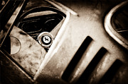 Wheel Photos - 1966 Ferrari 275 GTB Steering Wheel Emblem by Jill Reger