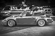 1984 Prints - 1984 Porsche 911 Carrera Cabriolet Slant Nose BW Print by Rich Franco