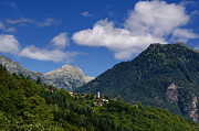 Hill Top Village Prints - Alpine village Print by Mats Silvan