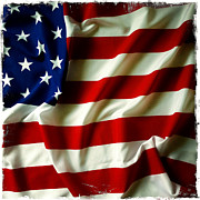Waving Photos - American flag by Les Cunliffe