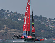 Sausalito California Metal Prints - Americas Cup San Francisco Metal Print by Steven Lapkin