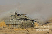 Battletank Prints - An Israel Defense Force Magach 7 Main Print by Ofer Zidon