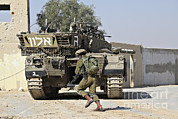 Battletank Prints - An Israel Defense Force Merkava Mark Ii Print by Ofer Zidon