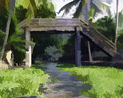 Indian Framed Prints - An old stone bridge over a canal Framed Print by Ashish Agarwal