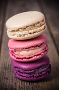 Gastronomy Framed Prints - Assorted macaroons vintage Framed Print by Jane Rix