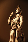 Art Of Building Pyrography Prints - Athena Print by Altay Suleyman