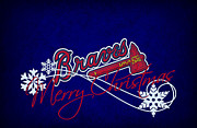 Baseball Bat Metal Prints - Atlanta Braves Metal Print by Joe Hamilton