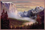 Yosemite National Park Digital Art - Autumns First Snowfall by Ronald Chambers