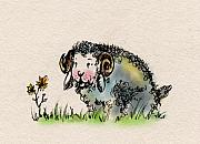 Sheep Prints - Baa Baa Print by Angel  Tarantella