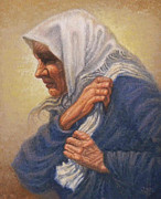Moscow Paintings - Babushka by Raffi  Jacobian