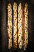 Rustic Photo Prints - Baguettes Print by Elena Elisseeva