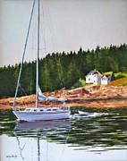 Bass Harbor Light Print by Karol Wyckoff