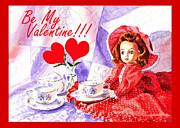Be My Valentine Print by Irina Sztukowski