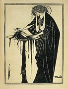 Aubrey Framed Prints - Beardsley, Aubrey Vincent 1872-1898 Framed Print by Everett