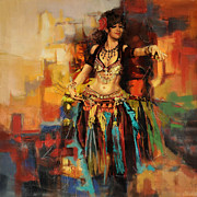 Monica Painting Framed Prints - Belly Dancer Framed Print by Corporate Art Task Force