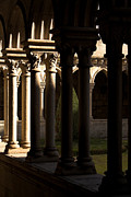 Architecture Prints - Benedictine Gothic Cloister Print by Lusoimages  
