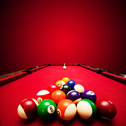 Pool Break Prints - Billards pool game Print by Michal Bednarek