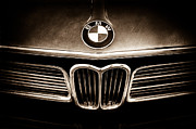 Car Pictures Framed Prints - BMW Hood Emblem Framed Print by Jill Reger