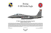 333 Posters - Boeing F-15E Strike Eagle Poster by Arthur Eggers