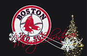 Christmas Doors Framed Prints - Boston Red Sox Framed Print by Joe Hamilton