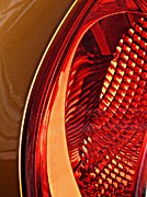 Brake Metal Prints - Brake Light 5 Metal Print by Sarah Loft